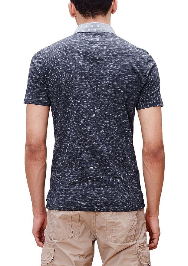 s.Oliver Men's 03.899.35.2501 Polo Shirt, Multicoloured-Mehrfarbig (Dark  Midnight Melange 59W2), S: Amazon.co.uk: Clothing