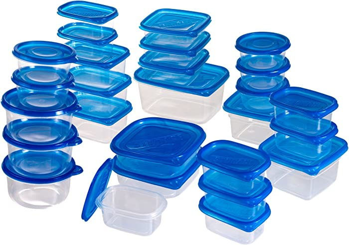 Chef Buddy 82-54PSS 54-Piece Food Storage Container Set with Air Tight Lids, pc, Blue