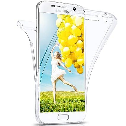 moex Samsung Galaxy S7 | Hülle Silikon Transparent 360 Grad Double Side Cover Dünne Schutzhülle Slim Handyhülle für Samsung G