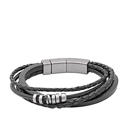 bracelet homme cuir fossil. Black Bedroom Furniture Sets. Home Design Ideas