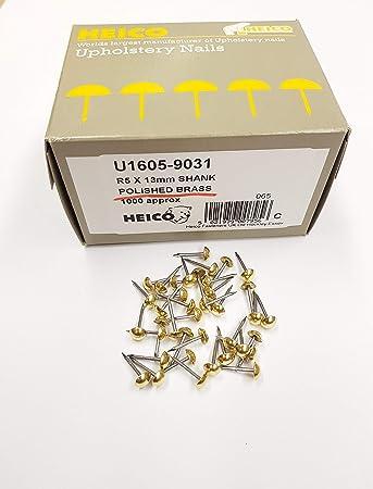 1000 klein massiv Messing 6 mm Nägel für Polstermöbel Möbel PINS ...