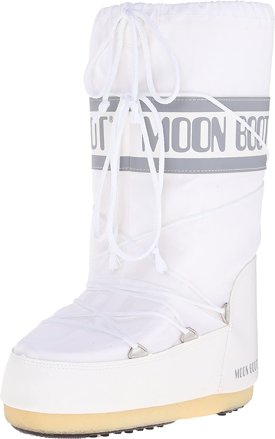MOON BOOT Nylon, Botas de Nieve Unisex Adulto, Blanco (White 6), 39-41 EU