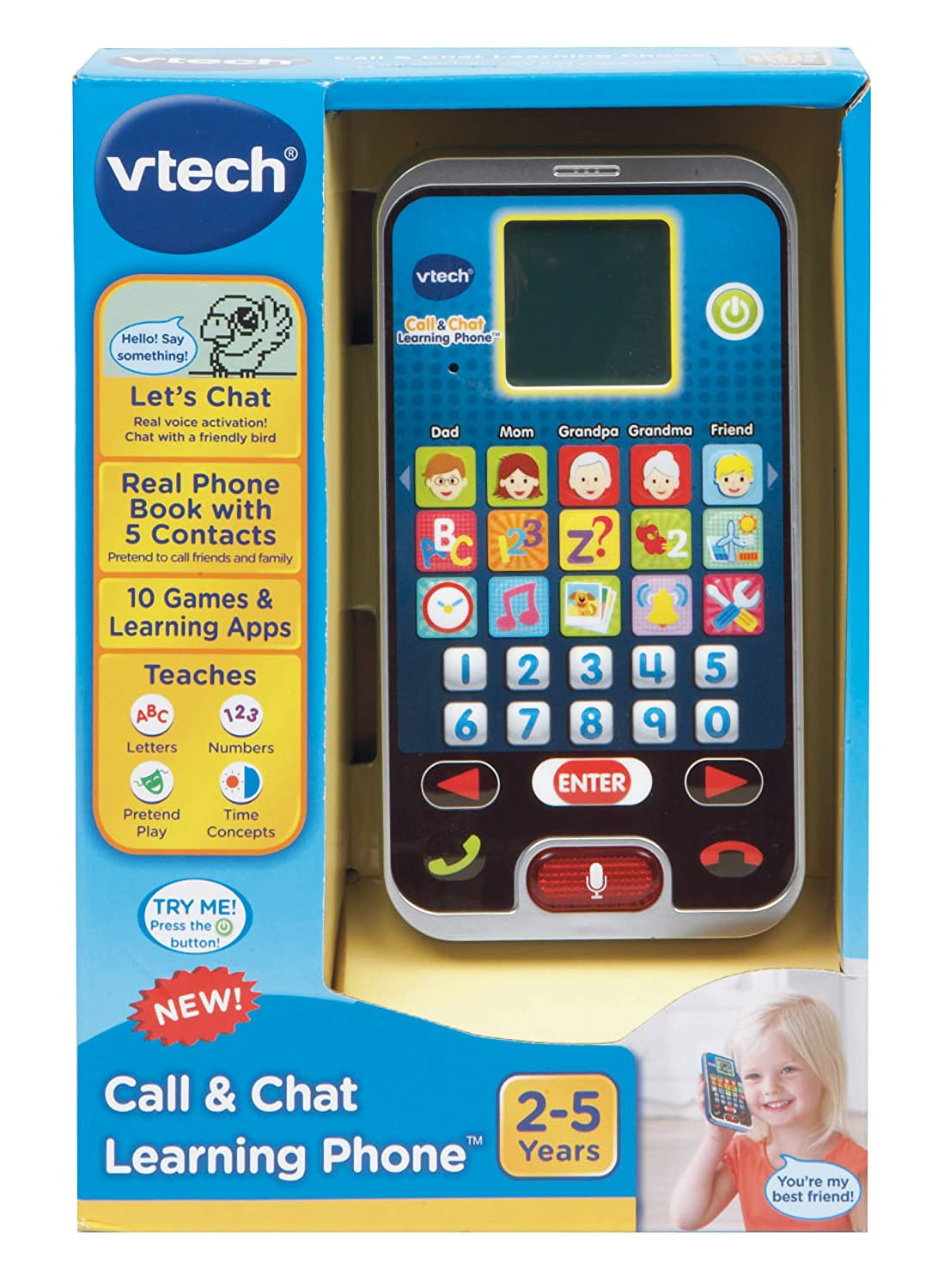 VTech--Import 80-139301 VTech Call /& Chat Learning Phone Frustration Free Packaging