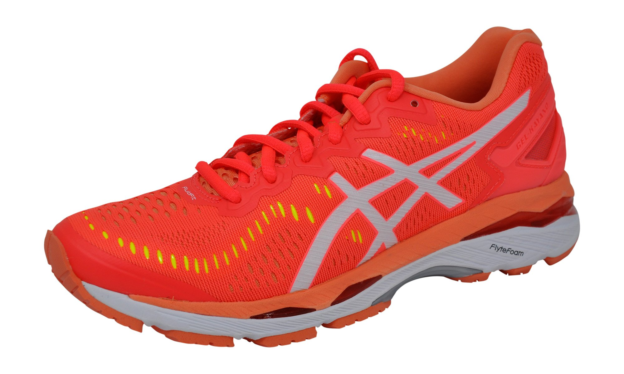 ASICS Womens Gel-Kayano 23 Running Shoe, Pink/White/Coral, 10 B(M) US