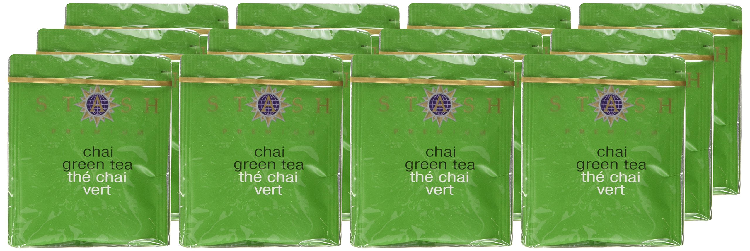 Stash Tea Green Chai Tea 10 Count Tea Bags in Foil (Pack of 12) (packaging may vary) Individual Spiced Green Tea Bags for Use in Teapots Mugs or Teacups, Brew Hot Tea or Iced Tea by Stash Tea (Image #2)
