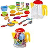 Pretend Cookware Playset With Pots Pans And Utensils In a Reclosable Plastic Jar