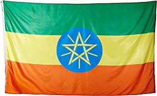 product image for Annin Flagmakers Model 192549 Ethiopia Flag Nylon SolarGuard NYL-Glo, 5x8 ft, 100% Made in USA to Official United Nations Design Specifications