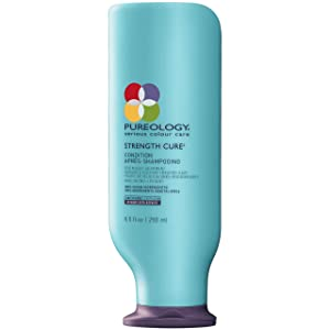Pureology Strength Cure Strengthening Conditioner , For Damaged, Color Treated Hair , Sulfate-Free , Vegan