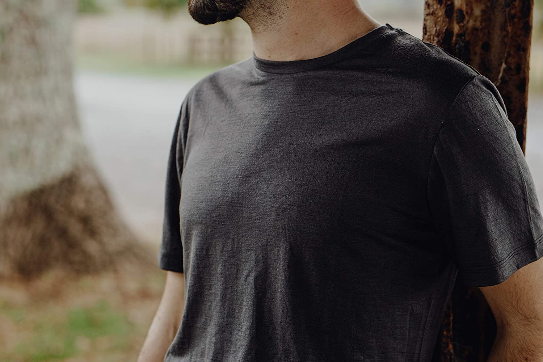 New Zealand Merino Merino 365 Mens Short Sleeve T Black