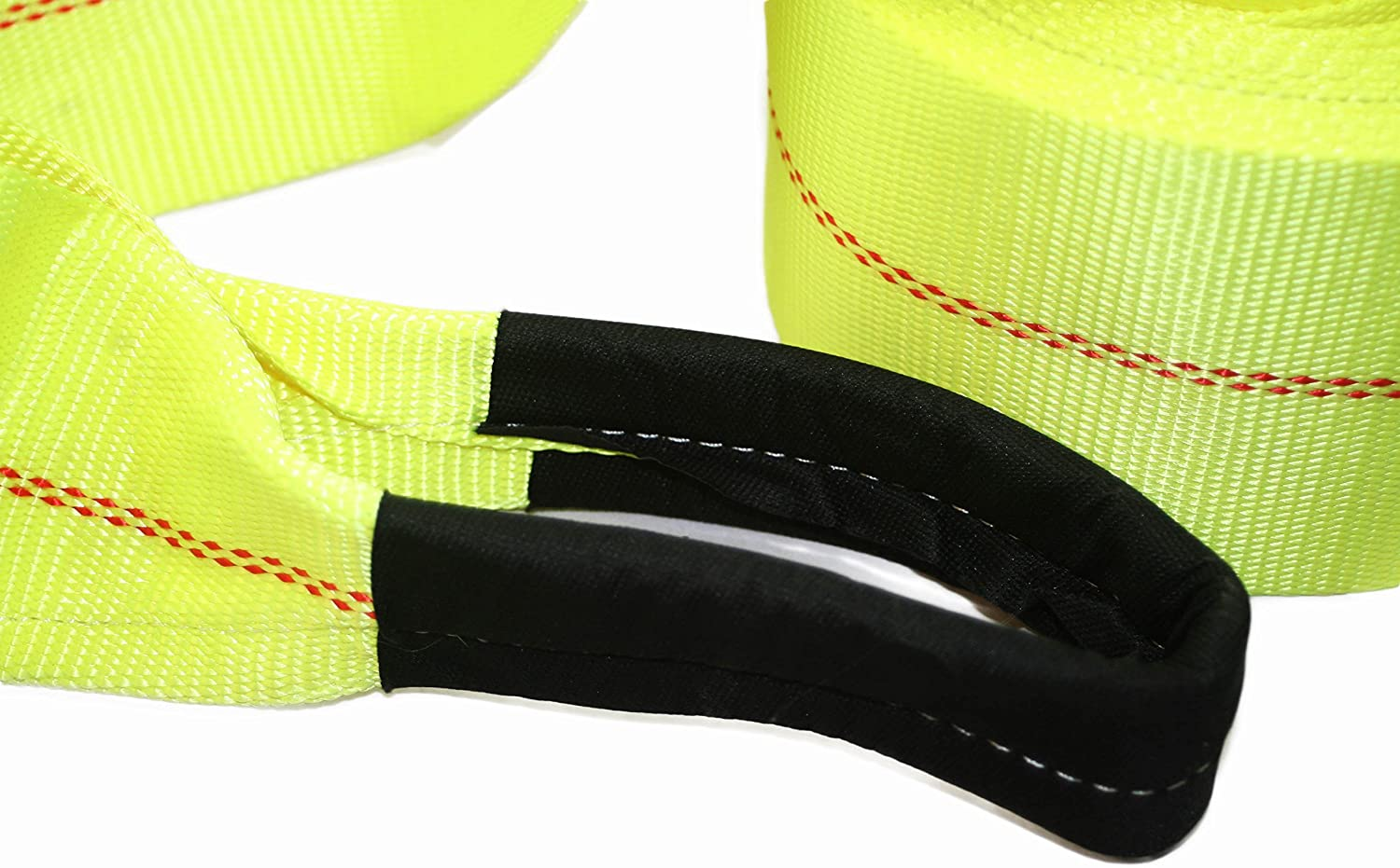ABN Tow Winch Rope with Loops 30 Feet x 4in Offroad Vehicle Recovery Strap 20,000 lbs pound Towing Capacity