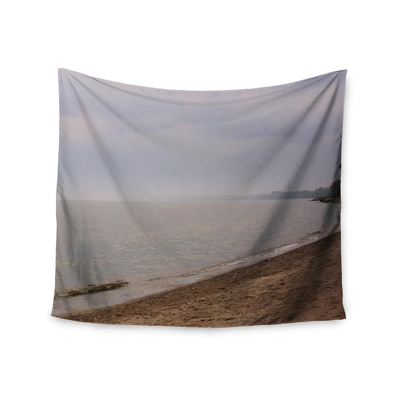 68 x 80 KESS InHouse Angie Turner Along The Coast Blue Gray Wall Tapestry