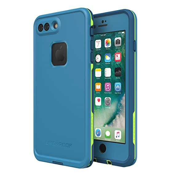 sports shoes 6b8d5 9b863 Lifeproof FRĒ SERIES Waterproof Case for iPhone 8 Plus & 7 Plus (ONLY) -  Retail Packaging - BANZAI (COWABUNGA/WAVE CRASH/LONGBOARD)