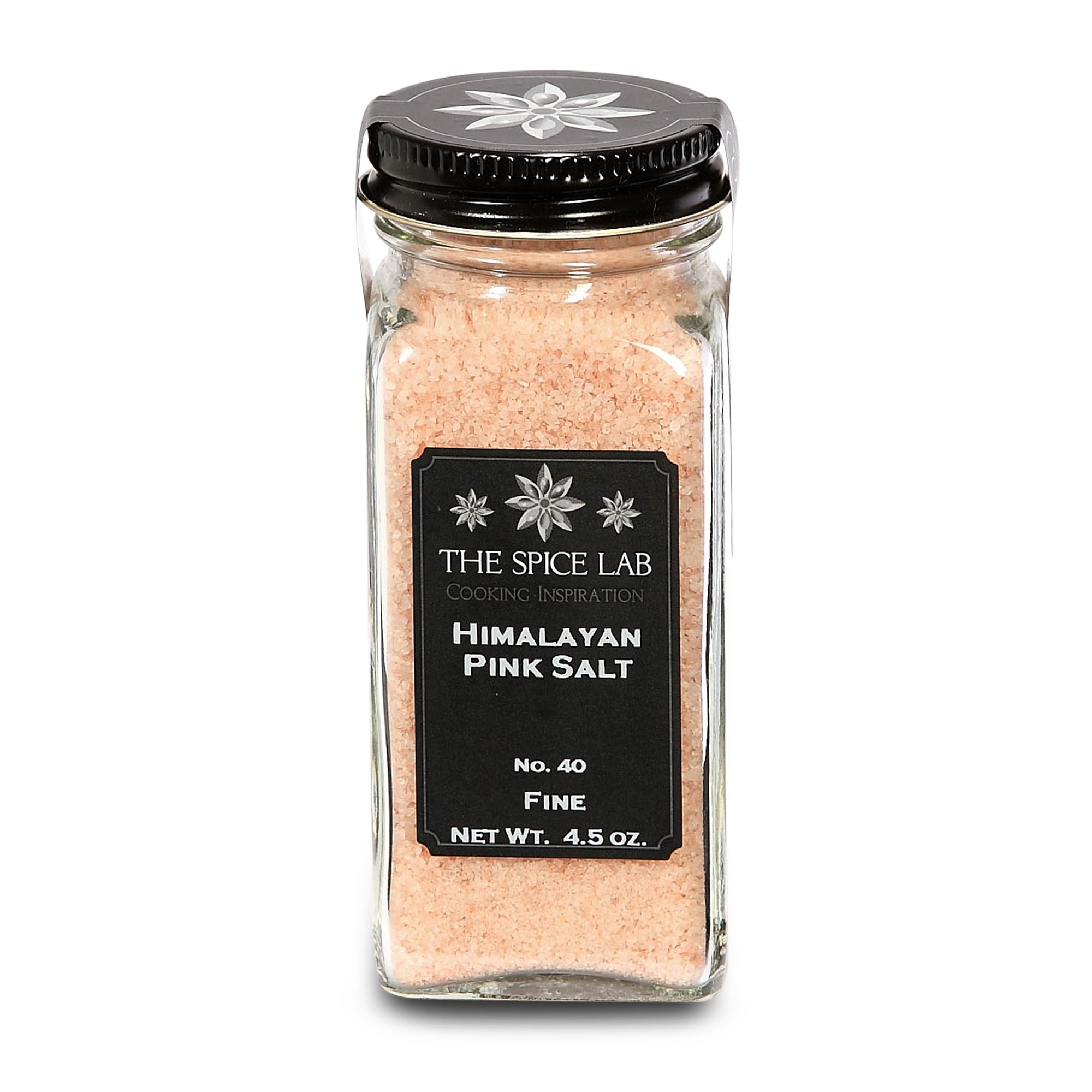 The Spice Lab Pink Himalayan Salt - X-fine French Jar - Gourmet Pure Crystal - Nutrient and Mineral Dense for Health - Kosher and Natural Certified .5mm