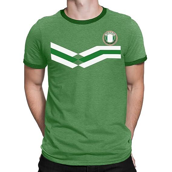 Tee Spirit Nigeria Camiseta Para Hombre World Cup 2018 Fútbol New Style Retro: Amazon.es: Ropa y accesorios