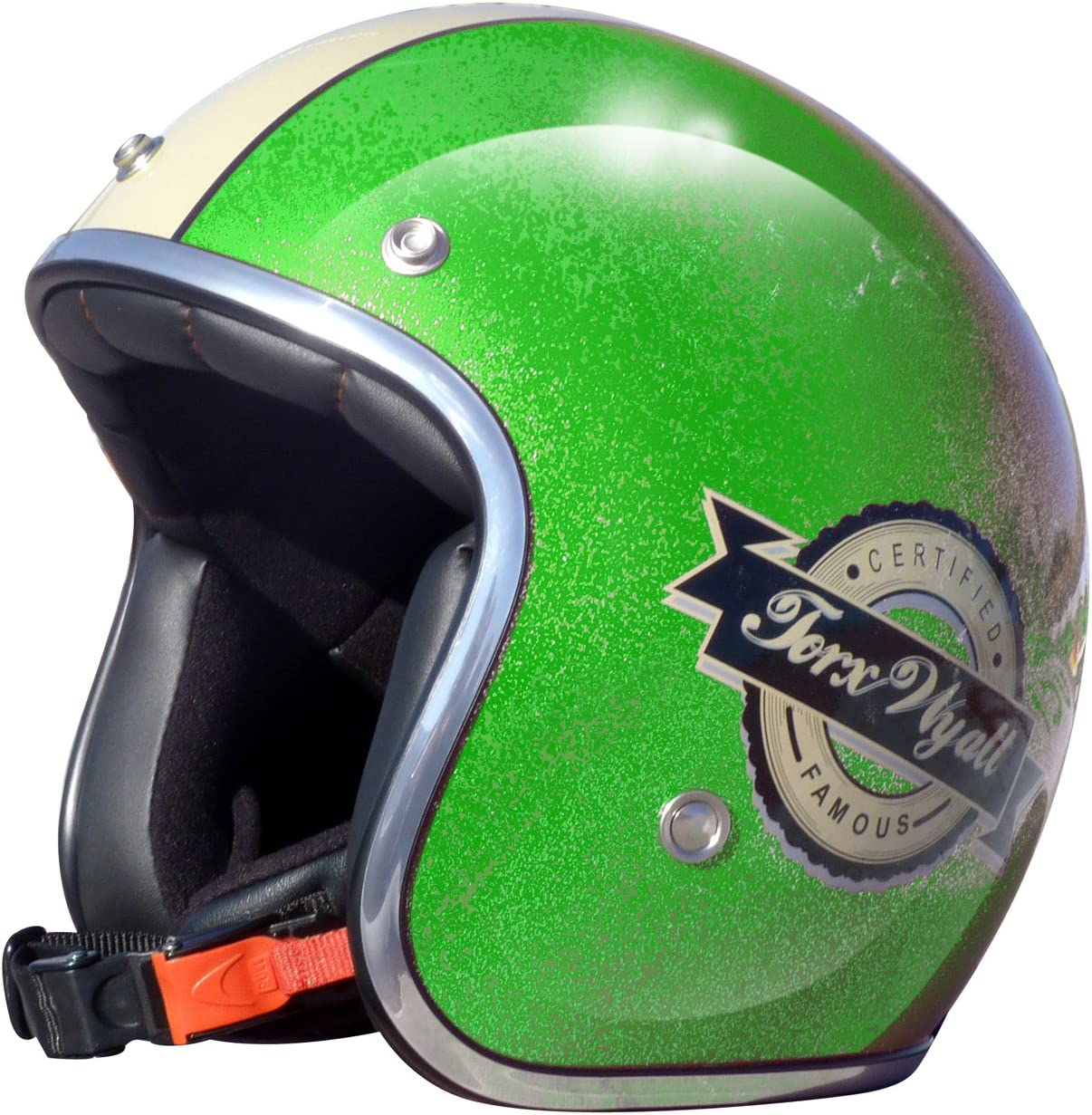 TORX Casque Moto WYATT FAMOUS SHINY GLITTER PINK Taille XS Rose