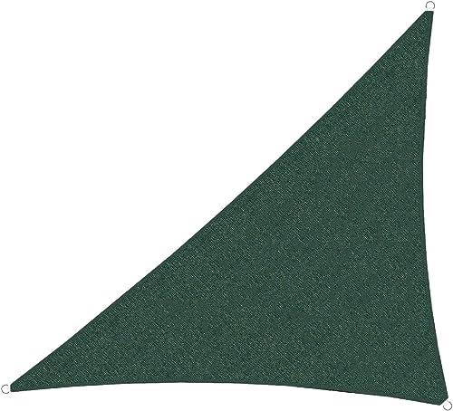 TANG Sun Shades Depot Green20'x27'x34' Right Triangle Sun Shade Sail Canopy Square 180 GSM Shade Sail UV Block