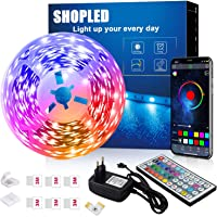 LED Strips 6M, SHOPLED Bluetooth Music Sync SMD 5050 RGB Led Verlichting met App Bediening, 44 Toetsen Afstandsbediening…
