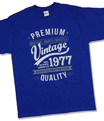My Generation Gifts - Camiseta para Hombre 1978 Vintage Year - Aged to Perfection - 40 Cumpleaños - Azul Rey L