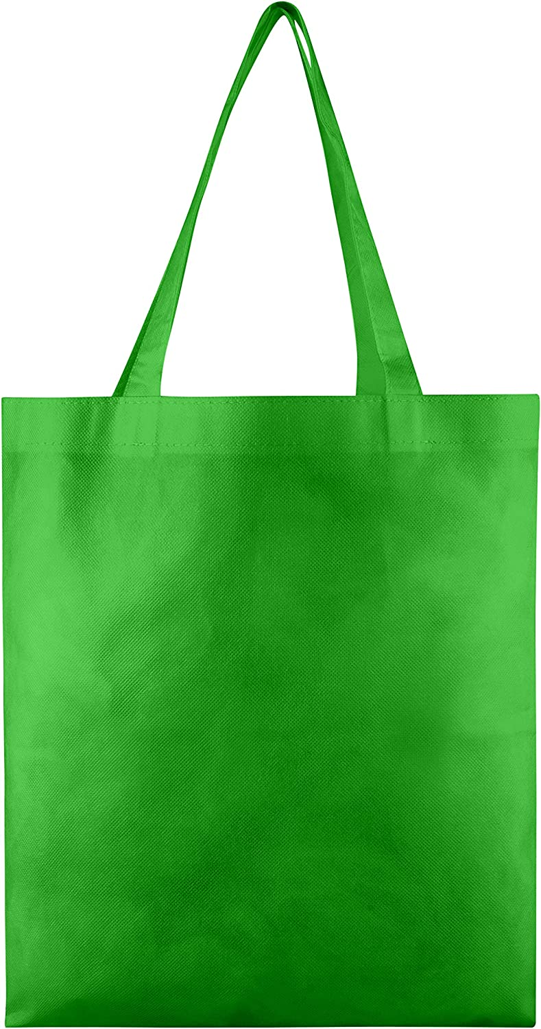 Non Woven Polypropylene Bags in Bulk - 50 Pack - Wholesale Tote Bags 13x15
