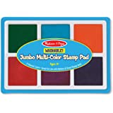 Melissa & Doug Jumbo Multi-Colored Stamp Pad With 6 Washable Inks