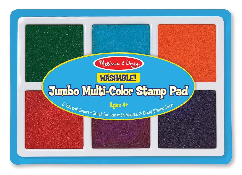 Melissa & Doug Jumbo Multi-Colored Stamp Pad With 6 Washable Inks 2419
