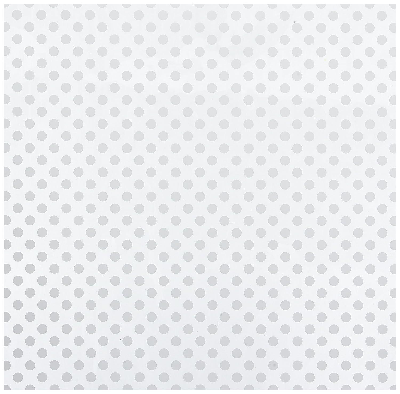 American Crafts Bazzill ベーシックペーパー 12 x 12インチ アセテートシート ドット ホワイト B01JHG03MM