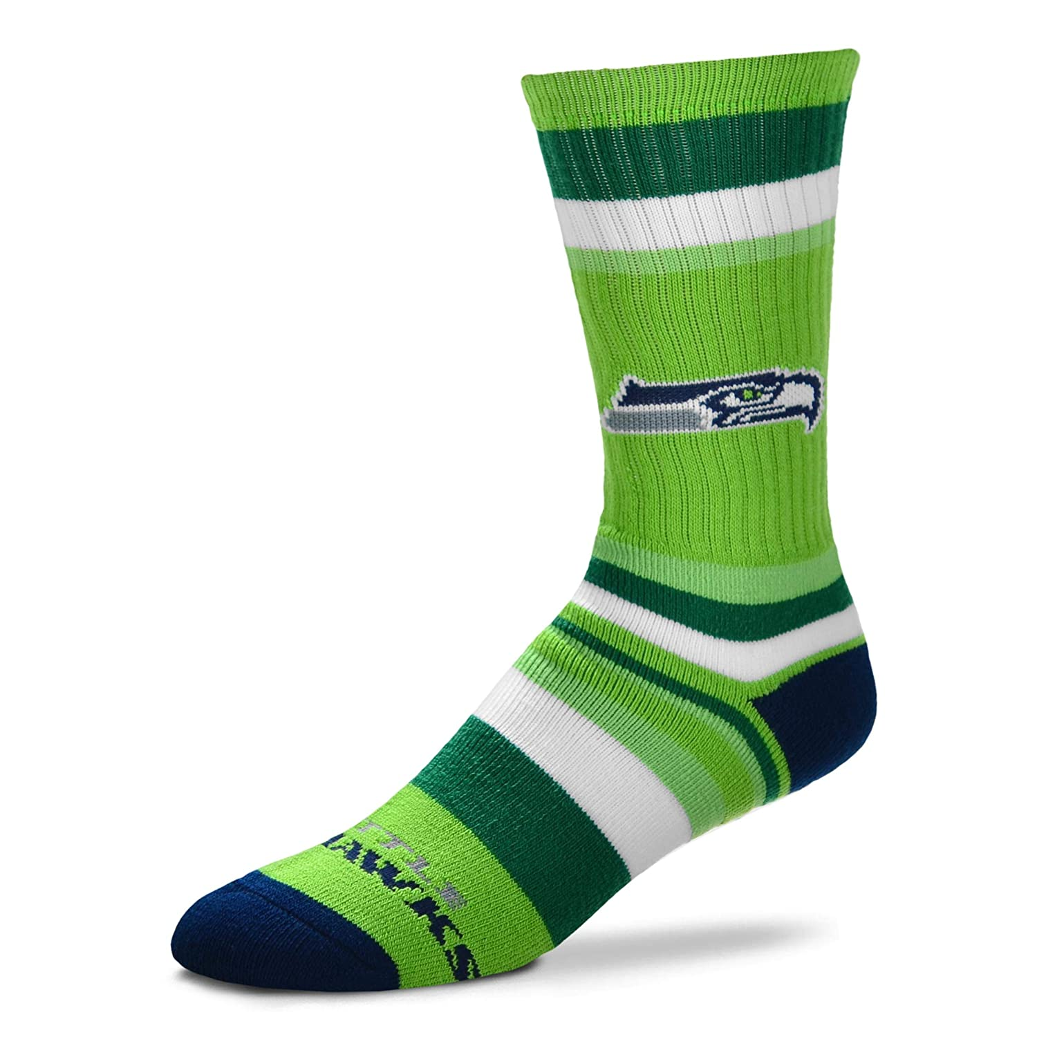 4-8 YRS 1-5 Kids Crew Socks Seattle Seahawks Rainbow Stripe Youth Size 13