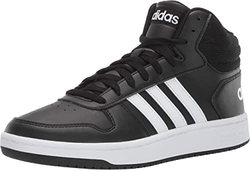 Adidas neo vs hoops black leather mid top 9