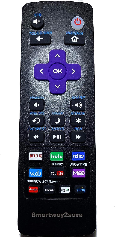 Mando a distancia universal para televisores Roku compatible con TCL, LG, ONN, Sharp, Philips, Hisense, JVC, RCA, Sanyo, Haier, Insignia, Hitachi. y Box Players.: Amazon.es: Electrónica