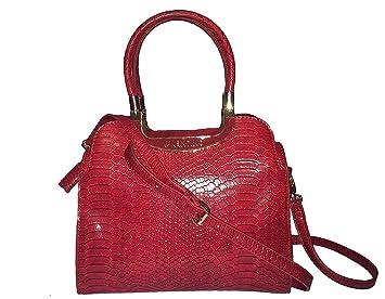 Valentino - Cartera de mano con asa para mujer Rojo rojo: Amazon.es: Equipaje