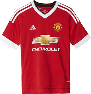 Amazon Com Adidas 2015 2016 Man Utd Home Football Soccer T Shirt Jersey Kids Clothing