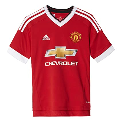 ccc58e45 Amazon.com: adidas 2015-2016 Man Utd Home Football Soccer T-Shirt ...