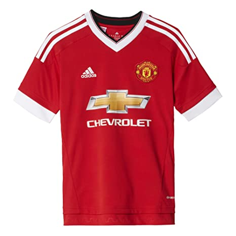 Adidas Trikot Manchester Home Replica Camiseta, Niños, Rojo/Blanco, 176