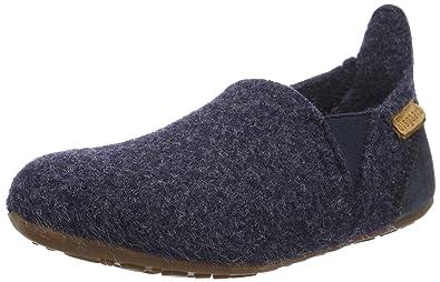 Bisgaard Unisex-Kinder Wool Velcro Slipper, Blau (20 Blue), 23 EU