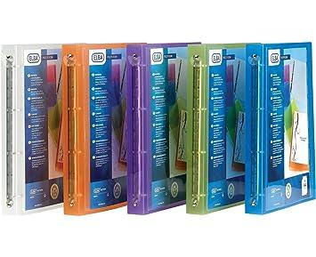 Elba - Juego de 3 archivadores personalizable Polyvision Polypro 8/10e ancho 3 CM), color aleatorio: Amazon.es: Oficina y papelería