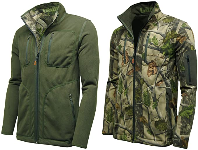 GAME Juego para Hombre Reversible Chaqueta Impermeable Camuflaje ...