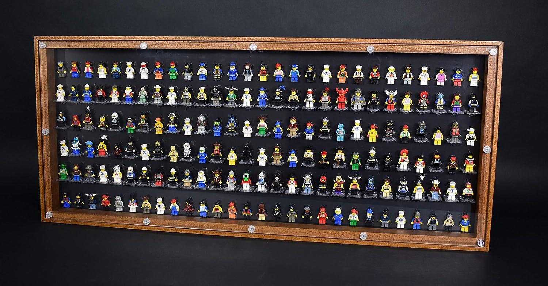 FiguCase Click System Vitrine 114 x 50 für 168 eure Lego® Figuren Eiche schwarz