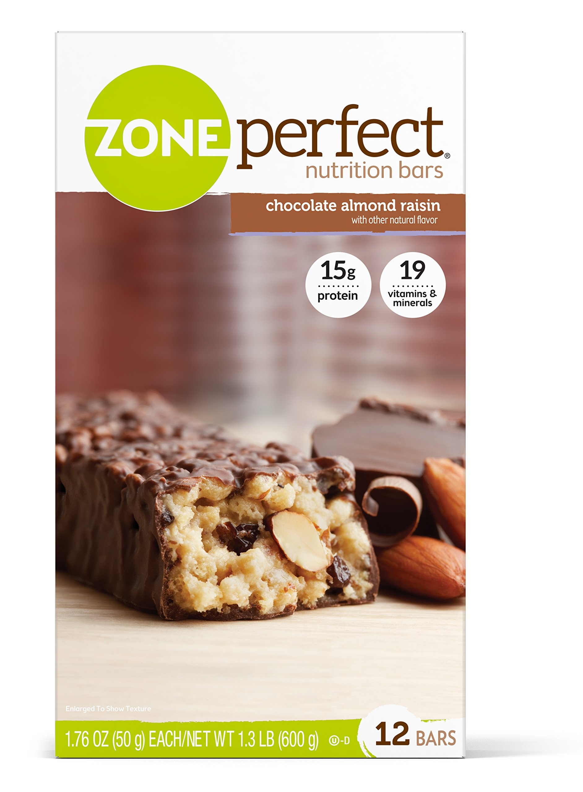 Zone Perfect Nutrition Bar, Chocolate Almond Raisin, 12 Count (Pack of 3) by Zoneperfect Classic (Image #1)