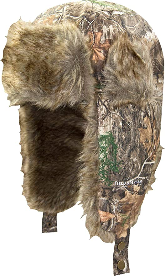 2eb46b8f0537c Amazon.com   Field   Stream Men s Trapper Hat (Realtree Edge ...