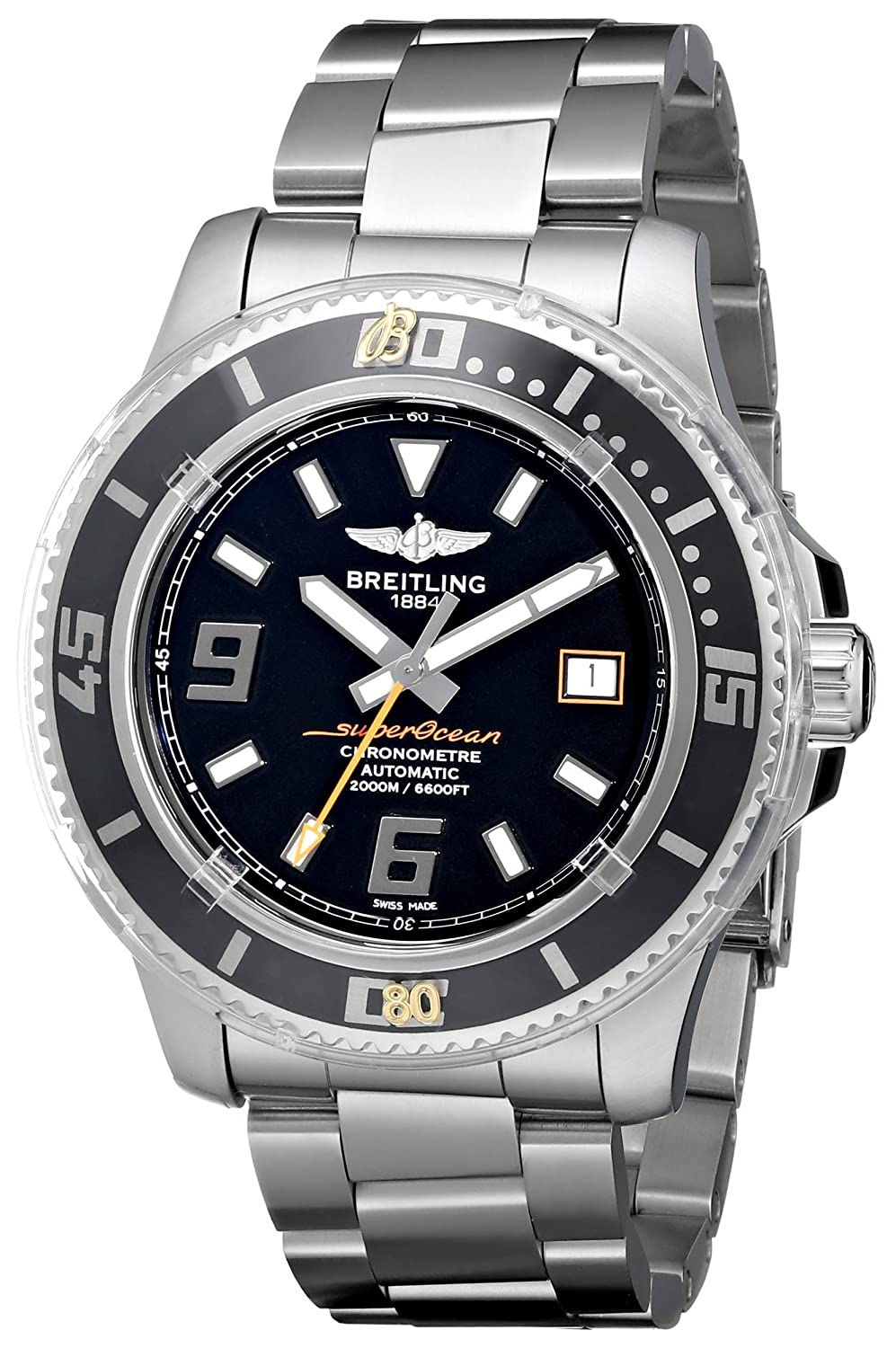 Amazon.com: Breitling Mens A1739102/BA80 Superocean 44 Black Dial Watch: Breitling: Watches
