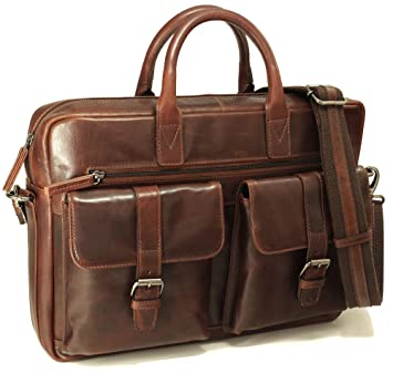 c188a4d0e33a2 Fa.Volmer® Herren Echt-Leder Business-Tasche für Notebook etc. in ...