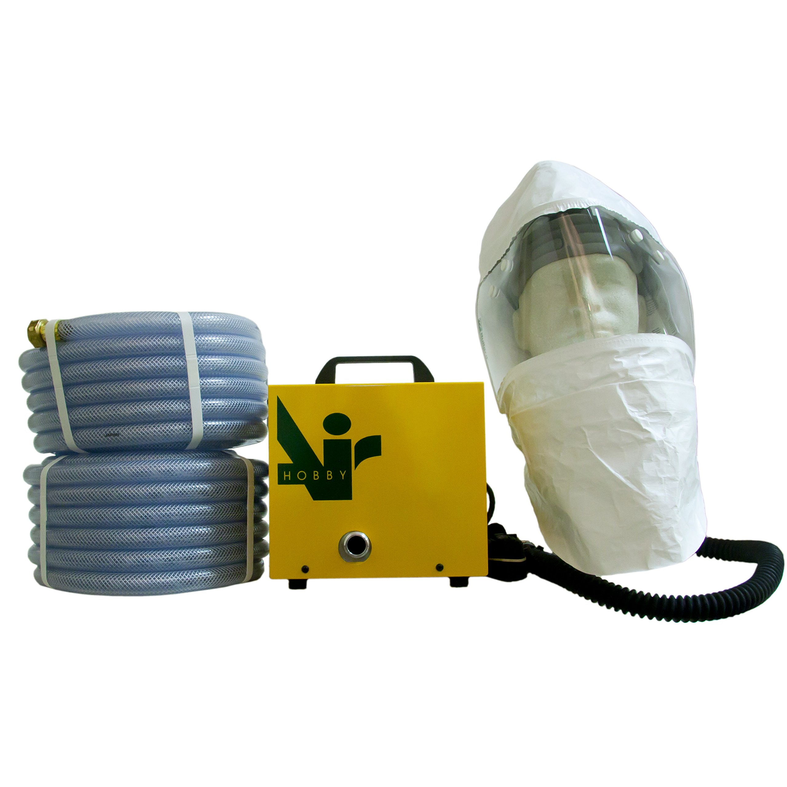 Hobbyair 2 with Air Supplied Painting Hood and 80' of Hose