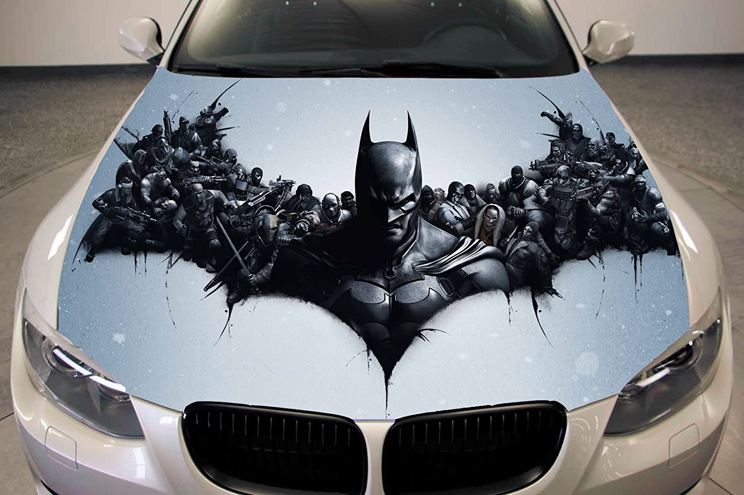 Amazon com batman full color sticker car hood vinyl sticker car vinyl graphics decal wrap car hood graphics fit any vehicles mh111 baby