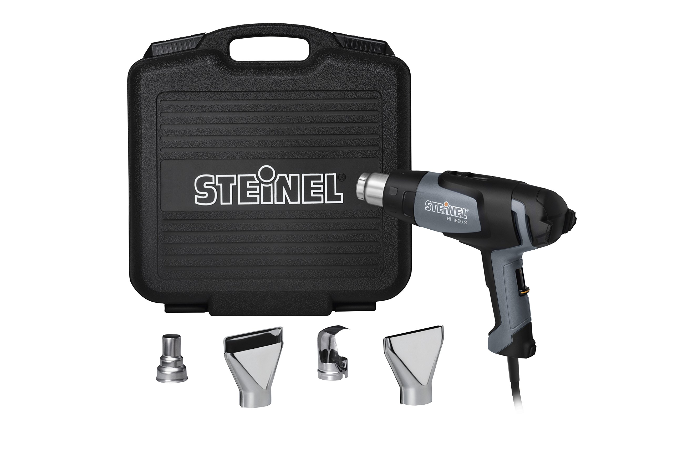Steinel HL 1820 S General Purpose Kit - incl. heat tool with 1400 Watts, adjustable temperature & airflow, hot air blower set for stripping paint, soldering pipes, shaping plastics