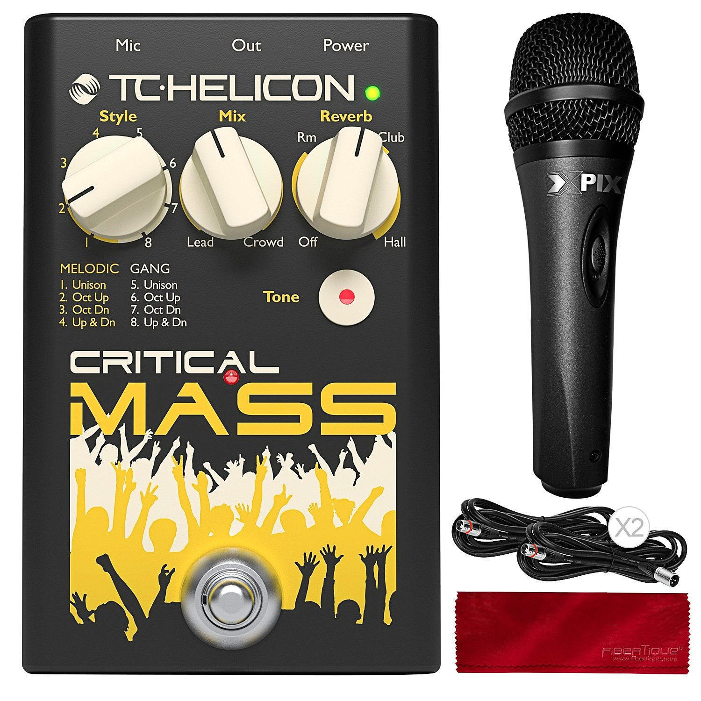 TC Helicon Critical Mass Pedal Vocal Effect Processor with Xpix Studio Condenser Microphone Bundle