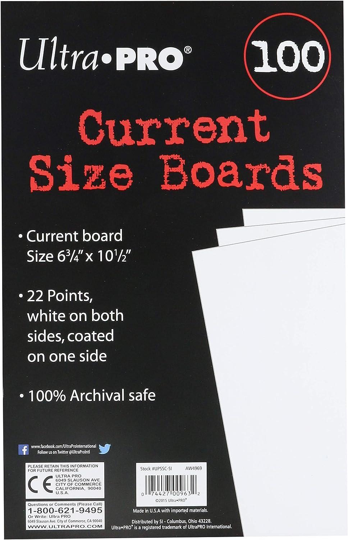 B001Q72HD4 Ultra Pro Current Size Boards, 6.75 X 10.5 (100 Count Pack) 81L4s9PstzL