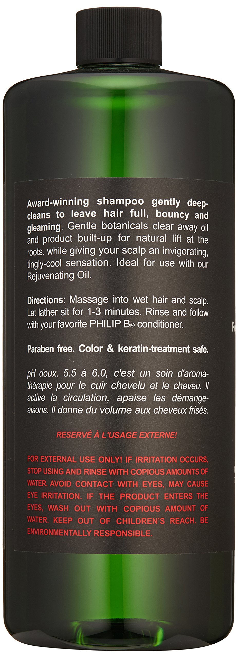 PHILIP B Volumizing and Clarifying Shampoo, Peppermint/Avocado, 32 Fl Oz by PHILIP B (Image #2)