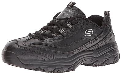 776678362155c3 Skechers for Work Women's D'Lites Marbleton Work Shoe,Black,5 M US