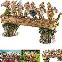 Seven Dwarf Trees Gnome Decorate The Garden, Fairy Garden Gnome Statues, Mini Seven Dwarfs Resin Statue, Handmade…