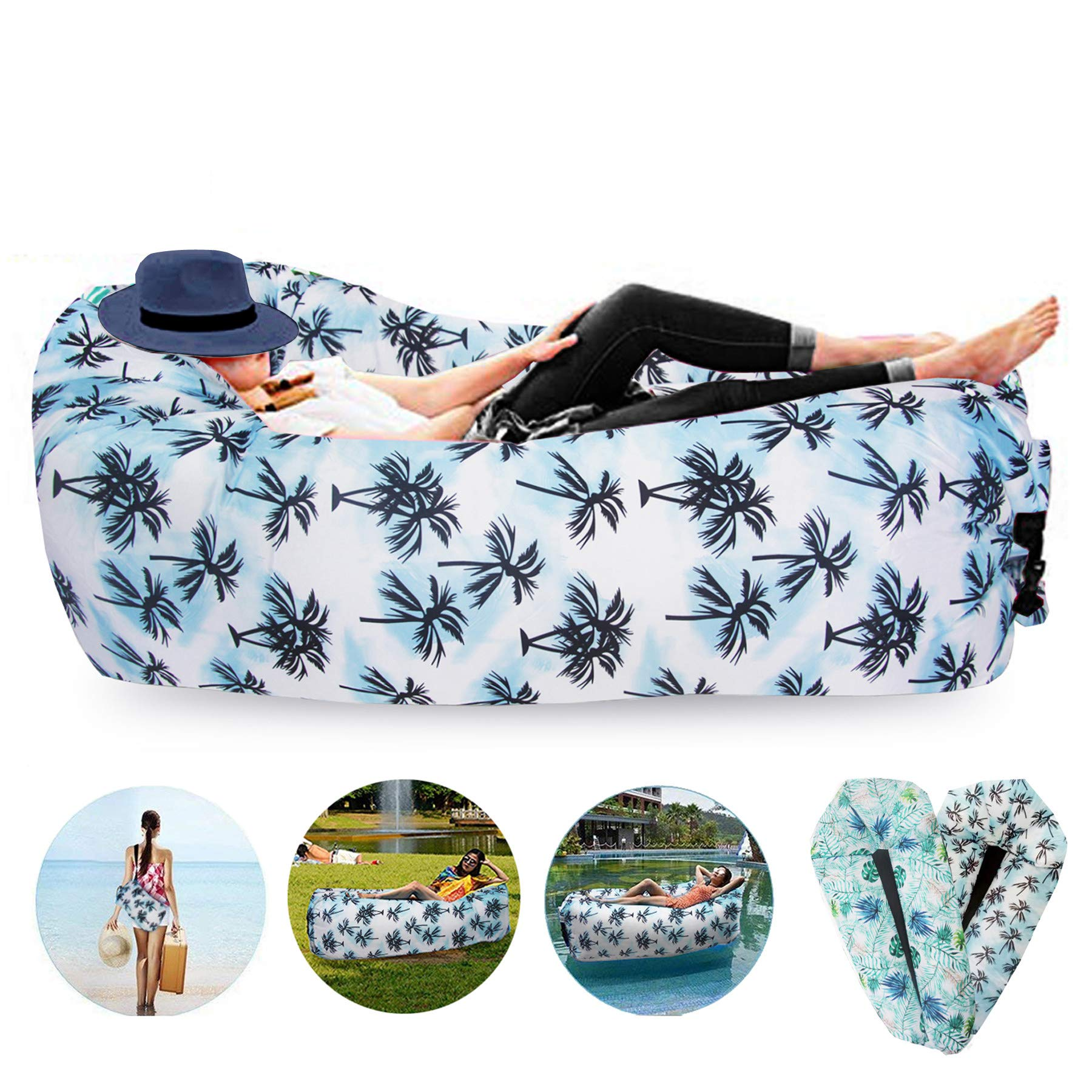 FORNY Air Chair Float Sofa Inflatable Couch Lounger Hommock Portable Picnic Outdoor Use for Camping Hiking Beach Pool (airsofa2) by FORNY